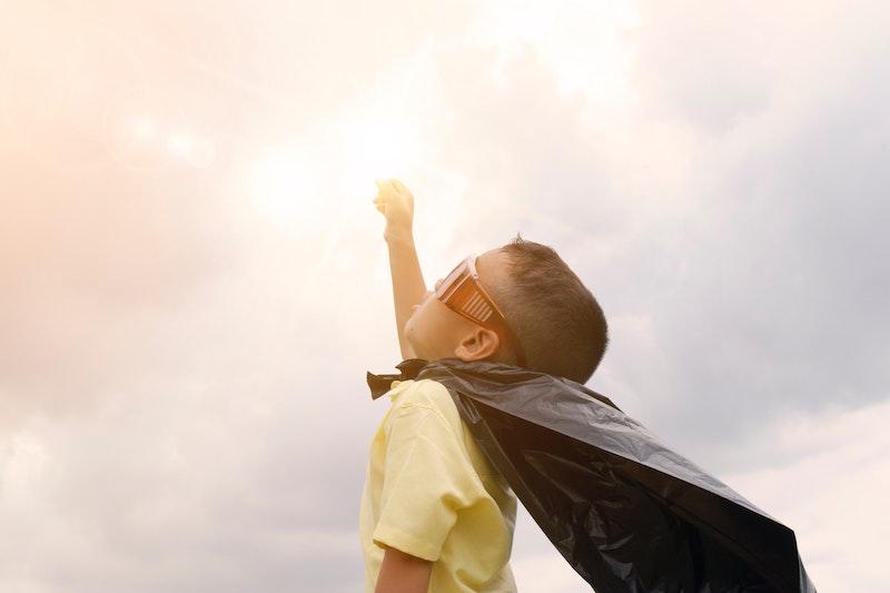 klein-spring-montessori-superhero-child